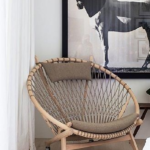 Use the Hans Wegner Circle Chair to elevate your living rooms